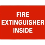 "7"" x 10"" Adhesive Vinyl Fire Extinguisher Inside Sign"