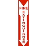 "20"" x 4"" Fire Extinguisher Down Arrow"