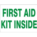 "7"" x 10"" Aluminum First Aid Kit Inside Sign"