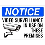 "7"" x 10"" Aluminum Video Surveillance In Use On These Premises Notice Sign"