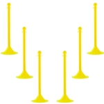 "2"" Crowd Control Stanchion (41"" Overall Height) - Yellow"
