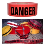 "Reinforced Danger Tape 3""x500'"