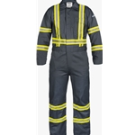 9 oz. FR Cotton Coveralls with Reflective Trim