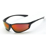 Crossfire Shiny Black Frame - Red Mirror Lens