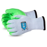 10-Gauge Cotton/Poly Knit Glove with Hi-Viz Latex Palm Lined with Punkban™