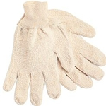 Terry cloth loop-out regular weight gloves L White