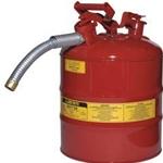 "5-Gal. AccuFlow™ steel safety can w/ 5/8"" hose Red"