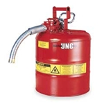 "5-Gal. AccuFlow™ steel safety can w/ 1"" hose Red"
