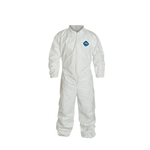 Tyvek coveralls w/ collar, elastic wrists & ankles XL