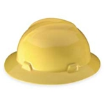 V-Gard full-brim Hard hat Yellow