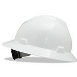 MSA V-Gard full-brim Hard hat White