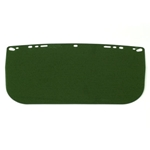Flat acetate visor Dark Green