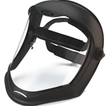 Bionic faceshield polycarbonate visor uncoated Clear Black matteLens: Clear