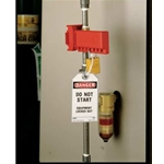 "Ball valve lockout 1 1/2""-2 1/2"" Red"