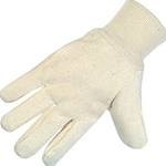 Cotton/Canvas Knit Wrist Wing Thumb Glove