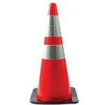 "28"" Orange Safety Cone w/ Reflective Collar"
