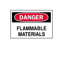 "Danger: Flammable Materials Sign 7"" x 10"""