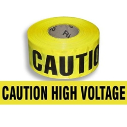Caution: High Voltage Tape