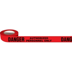Danger: Authorized Personel Only Tape