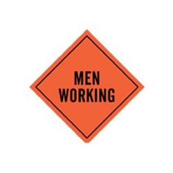 "48"" Roll Up Sign MEN WORKING"