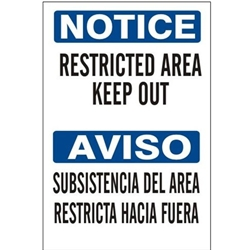 Bilingual Notice: Keep Out Sign