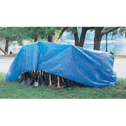 Blue Tarp with Grommets 10' x 12'