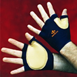 Fingerless Leather Impact Glove