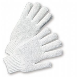 Bleached White String Knit Glove S