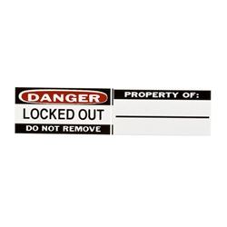 Lock Label: Do Not Remove