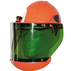 Dielectric Hard hat & 10 Cal Faceshield