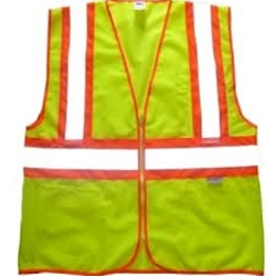 Class 2 Lime Two Tone Vest M