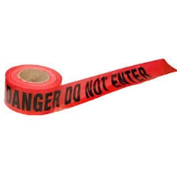 "Danger Tape: Do Not Enter 3"" x 1000'"