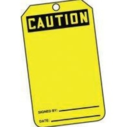 Caution Tag 25/Pack