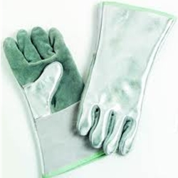 Aluminized Back Leather Front Glove