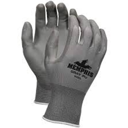 Atlas Fit Gloves Gray w/ Green Nitrile L