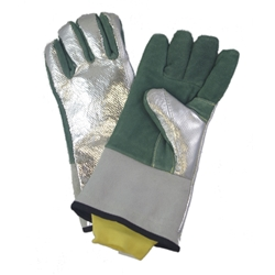 Aluminized Leather Wool Lined Glove