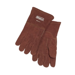 "15"" Brown Leather Foundry Glove"