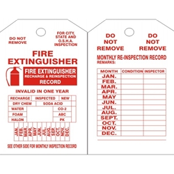 Fire Extinguisher Tag