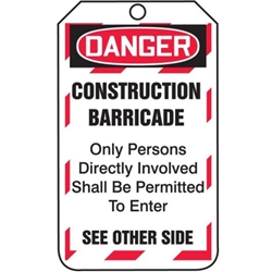 Danger Barricade Tag