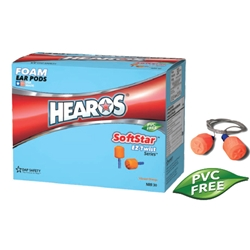 Hearos SoftStar EZ Twist Series UF No-Roll Foam Ear Plug Corded