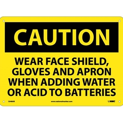 Notice Wear Goggles, Face Shield, Gloves and Apron In This Area Sign