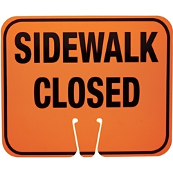 Cone Sign - Side Walk Closed