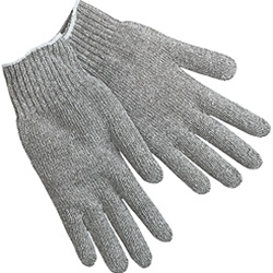 Gray String Knit Cotton Glove