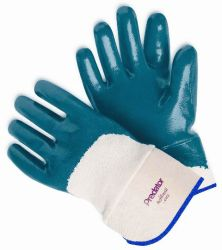 Kevlar® palm & jersey back gloves w/ nitrile cuff L