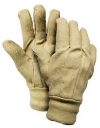 Cotton canvas gloves w/ wing thumb & band top Men's